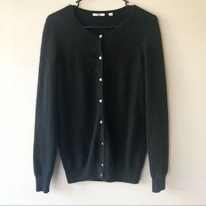 Uniqlo 100% Cashmere Black Cardigan